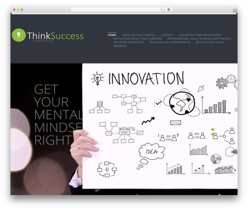 cherry WordPress theme - thinksuccess.today