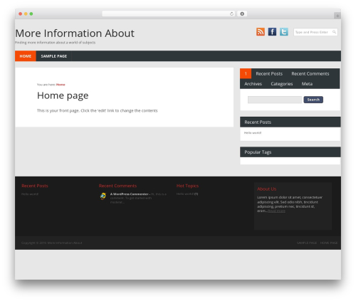 Combomag WordPress website template - more-information-about.org