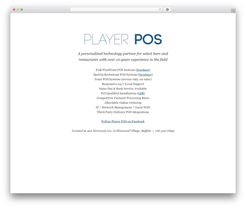 Genesis WordPress theme - playerposhq.com