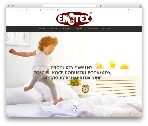 WordPress dt_woocommerce_page_builder plugin - ekotex.pl