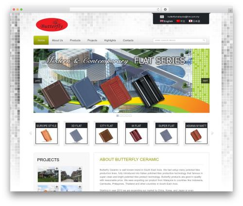 Mazine WordPress page template - butterfly.com.my