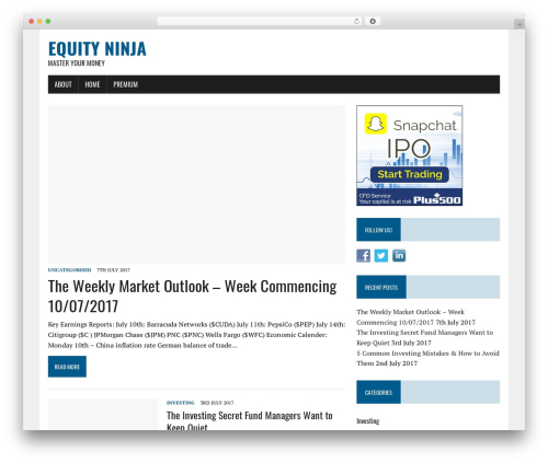 MH Newsdesk lite template WordPress free - equity.ninja