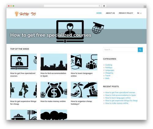 Poseidon WordPress template free download - abchowto.com