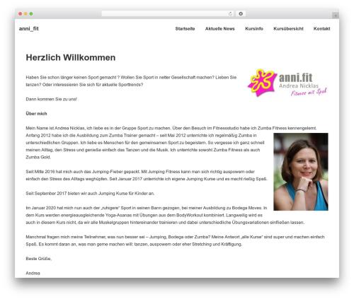Responsive theme WordPress free - anni.fit