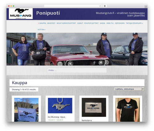 SG Grid template WordPress - ponipuoti.fi