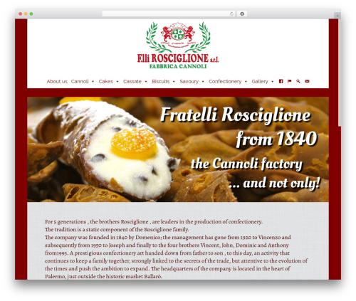 Subway theme WordPress - fratellirosciglionesrl.it
