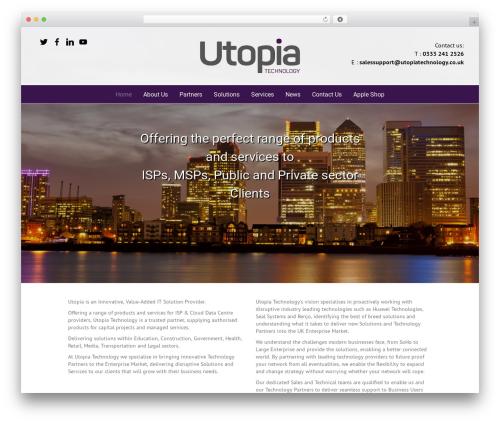 Utopia WordPress template - utopiatechnology.co.uk