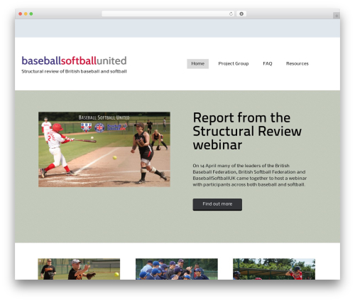 Alexandria free WP theme - baseballsoftballunited.uk