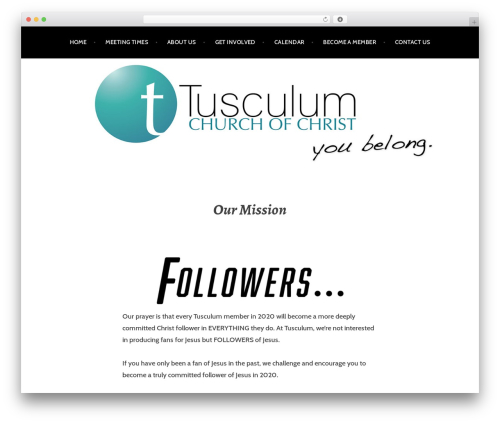 Argent free website theme - tusculum.org