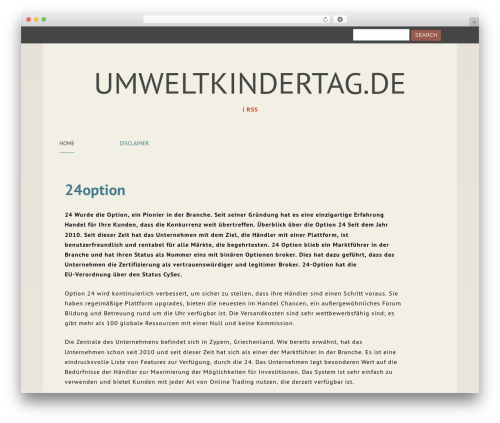 Content best free WordPress theme - umweltkindertag.de