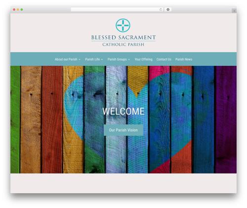 Divi WordPress theme design - blessedsacrament.org.uk