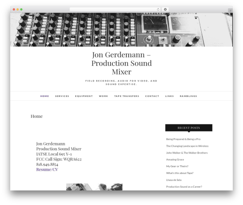 Edge template WordPress free - sounddept.org