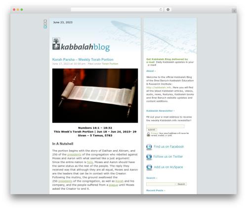 Free WordPress SlickQuiz plugin - kabbalahblog.info