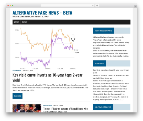 MH Newsdesk lite WordPress news theme - alternativefake.news
