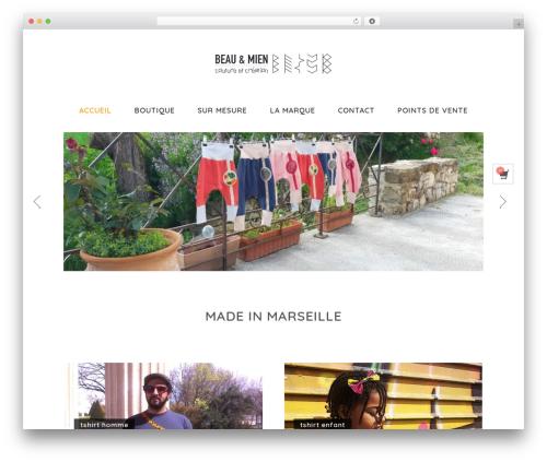 Shopera WordPress ecommerce template - beauetmien.fr