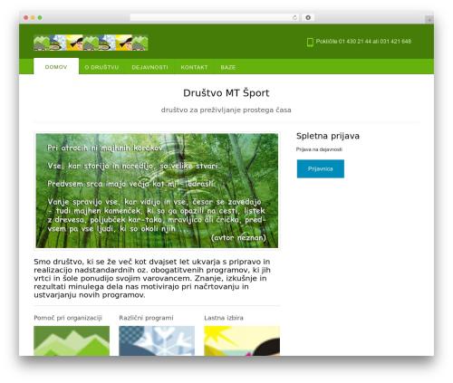 Template WordPress Appointway - drustvo-mtsport.si