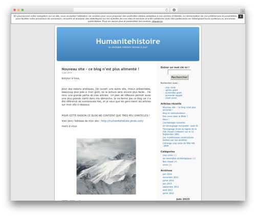 Thème par défaut best WordPress theme - humanitehistoire.unblog.fr