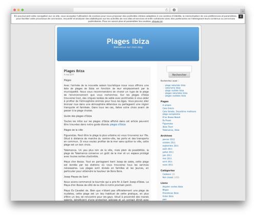 Thème par défaut WordPress blog template - plagesibiza.unblog.fr