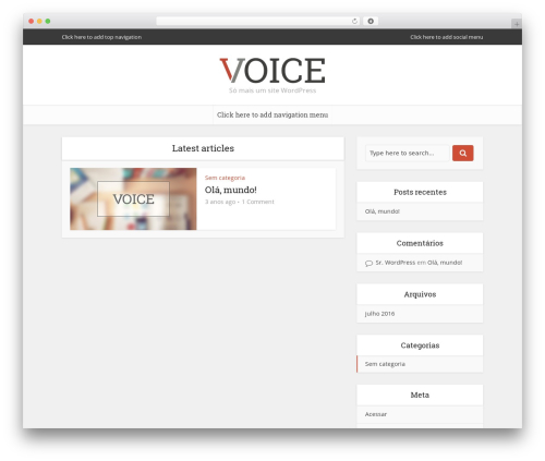 Voice | Shared by Themes24x7.com WordPress theme - healthyour.net