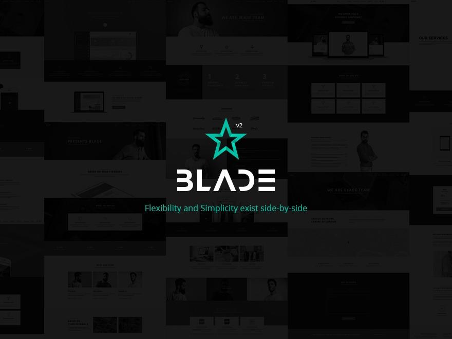 WordPress template Blade Child Theme