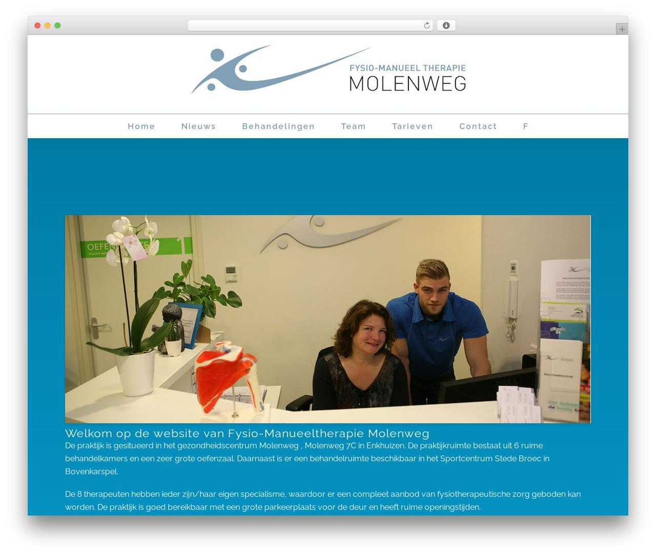 WordPress template Stockholm - fysiomanueeltherapiemolenweg.nl