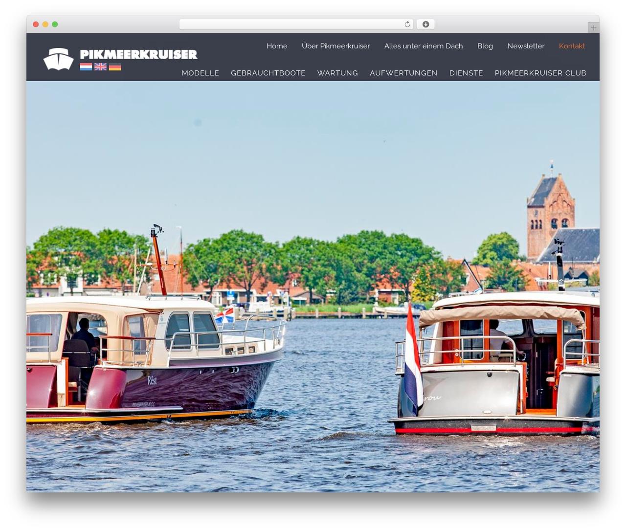 WP Omnia WordPress page template - pikmeerkruiser.de