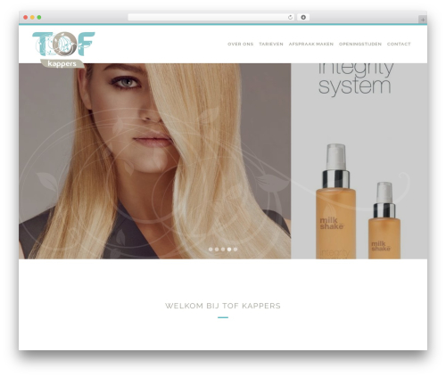 YSD Basic WordPress website template - tofkappers.nl