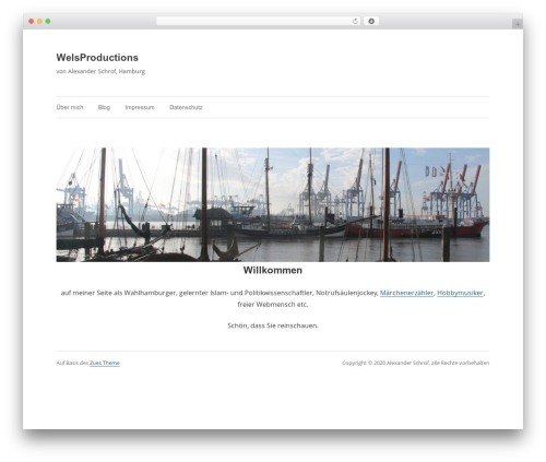 Zues WordPress template free - welsproductions.eu