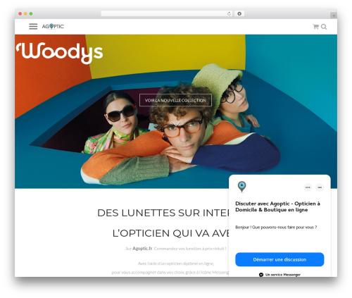 Agoptic best WordPress theme - agoptic.fr