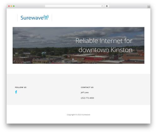 Ascension WordPress theme design - surewave.net
