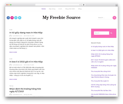 Bootstrap Blog WordPress blog theme - myfreebiesource.com