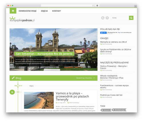Circle theme best WordPress template - europejskiepodroze.pl