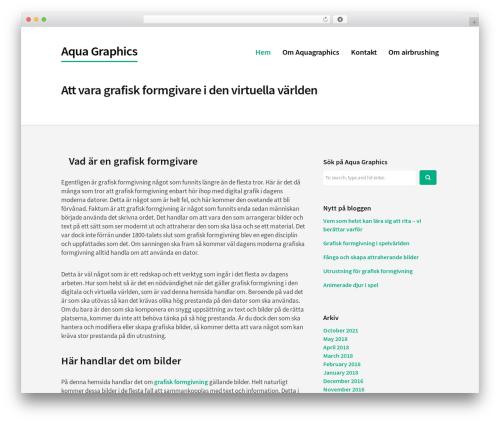 Corporate Portfolio best WordPress template - aquagraphics.se