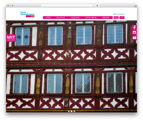 FDP WordPress page template - fdp-forchheim.de