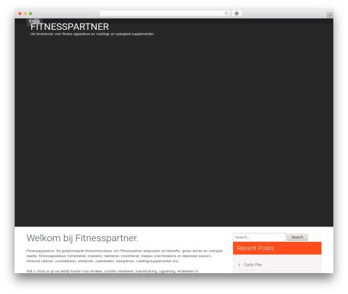Fitness Lite WP template - fitnesspartner.nl