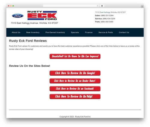 Genesis Sandbox WordPress website template - rustyeckford.reviews