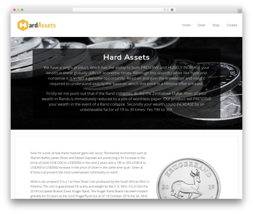 Genesis WordPress theme - hardassets.co.za