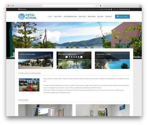 Hotec best hotel WordPress theme - athinahotel.gr