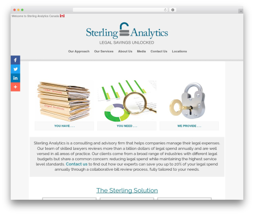 isis company WordPress theme - sterlinganalytics.ca