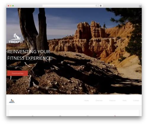 Landy gym WordPress theme - trek.fit