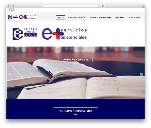 Legal free website theme - europaformacion.net