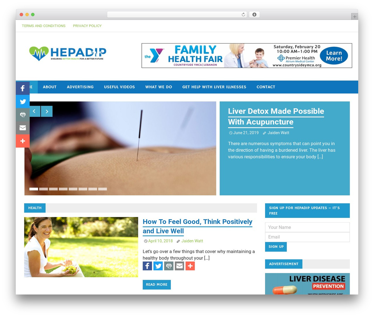 Merlin WordPress theme - hepadip.org