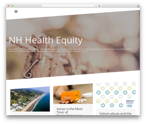 Oblique free website theme - nhhealthequity.org