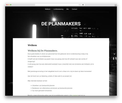 Padhang top WordPress theme - deplanmakers.nl