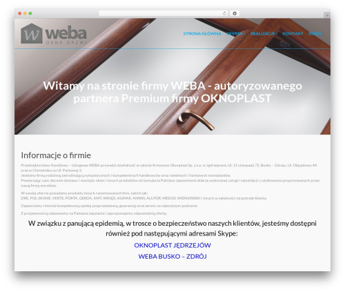 Pinnacle theme WordPress free - weba-oknoplast.pl