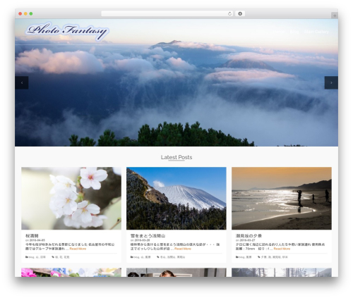 Pinnacle WordPress theme - photofan.nagoya