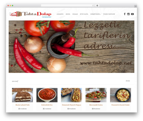 Recipes WordPress theme - tahtadolap.net