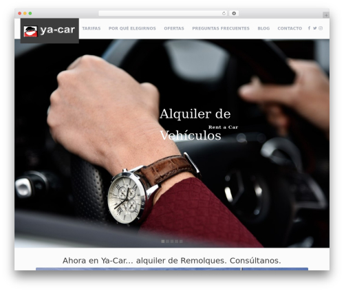 RentIt best WordPress theme - ya-car.es