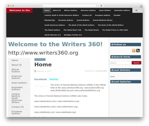 SmartAdapt free WordPress theme - writers360.org