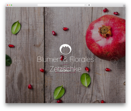 SOLIDO WordPress theme design - blumen-florales.de